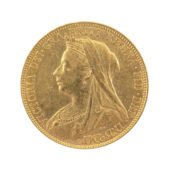 Pre-Owned 1900 Sydney Mint Victorian Veiled Full Sovereign
