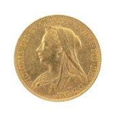 Pre-Owned 1900 Sydney Mint Victorian Veiled Full Sovereign