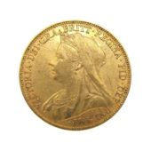 Pre-Owned-1898-UK-Victoria-Veiled-Head-Full-Sovereign-Gold-Coin