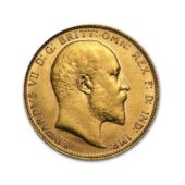 Pre-Owned-1909-UK-Edward-VII-Full-Sovereign-Gold-Coin
