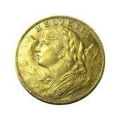 Swiss 20 Franc Helvetia Gold Coin - Mixed Dates 2